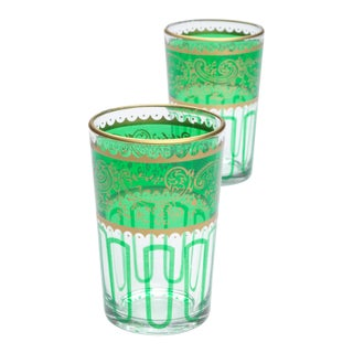 Essaouira Green & Silver Tea Glasses - Set of 6