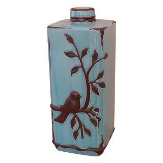 Decorative Ceramic Jar With Lid