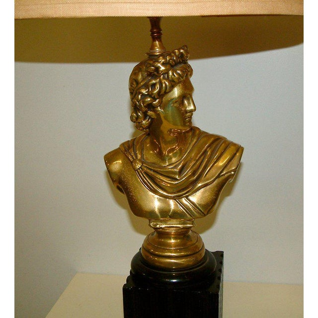 Brass Classical Bust Lamps - A Pair - Image 2 of 8