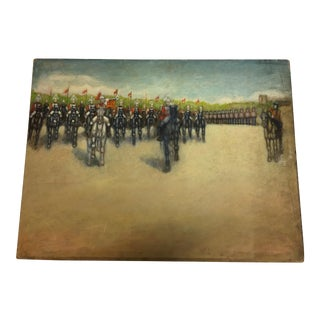 Horse Mounted Troops Painting