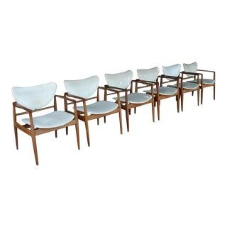 Set of Six Finn Juhl No. 48 Open Armchairs