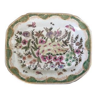 Green and Pink Decorative Plate
