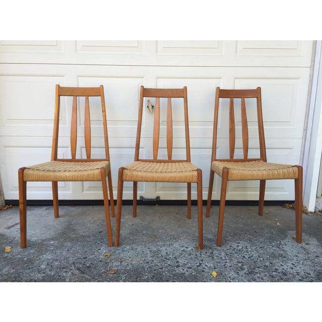 Danish Teak Dining Chairs W/Rope Seats - Set of 5 - Image 3 of 9