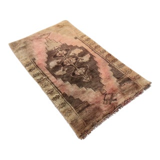 Antique Tribal Oushak Hand Knotted Turkish Rug -