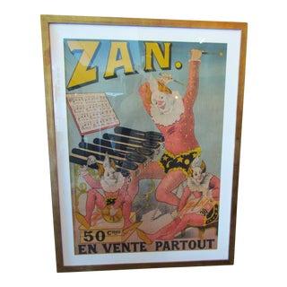 Vintage French Framed Poster