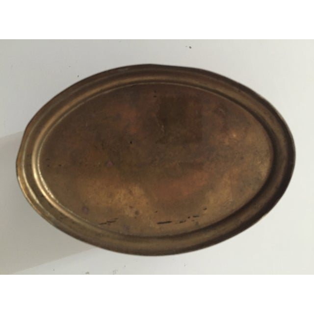 Image of Vintage Bone and Brass Oval Trinket Box