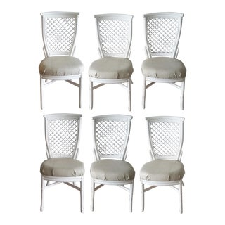 Rattan & Bamboo Chairs - Set of 6
