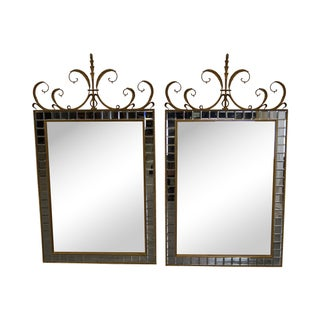 French Gilt Frame Mirrors Carvers Guild - Pair