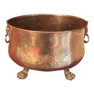 Brass Oval Urn Planter