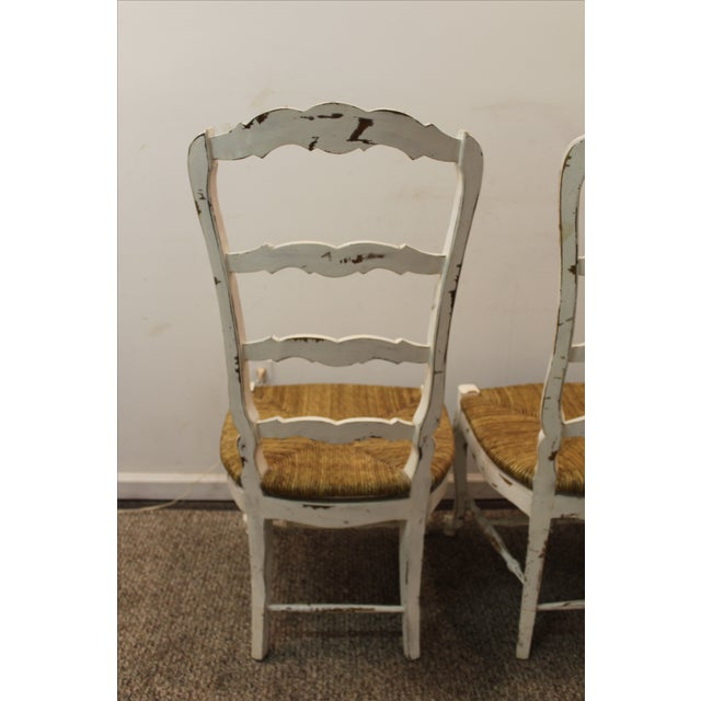French Country Rush Seat Ladder Back Chairs S 8 Chairish