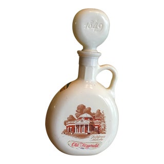 Vintage Fitzgerald Thomas Jefferson Monticello Flagship Decanter