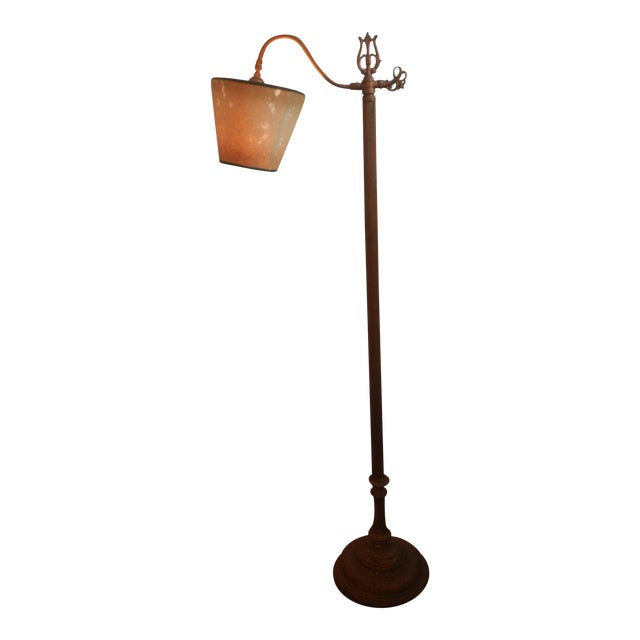 Antique Bridge Arm Floor Lamp - Image 1 of 6