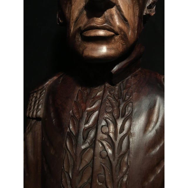 Circa 1970 Carved Wood Statue - Image 3 of 11