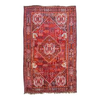 """Vintage Persian Qashqai Tribal Rug - 5'3"""" X 8'8"""""""