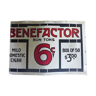 Antique Cardboard Cigar Sign
