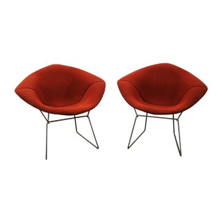 Mid Century Bertoia Knoll Diamond Chairs - Pair