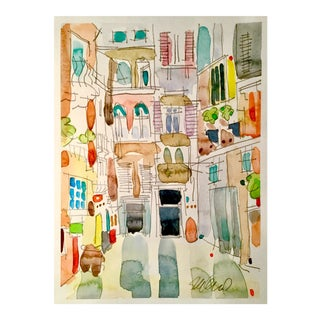 Italian Village Watercolor