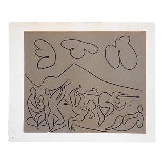 "Vintage Picasso Lithograph-""Bacchanale"""