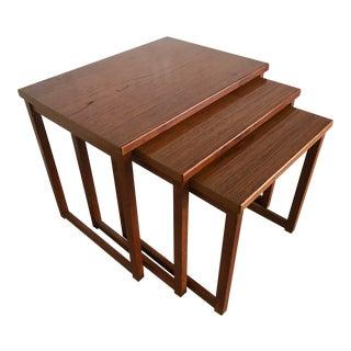 Peter Hvidt Danish Modern Teak Nesting Tables