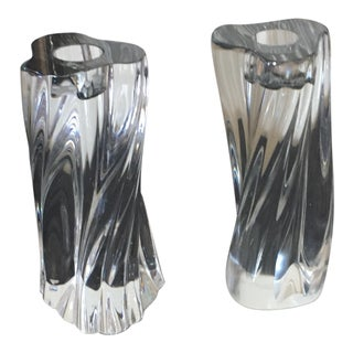 Baccarat Candle Holders - A Pair