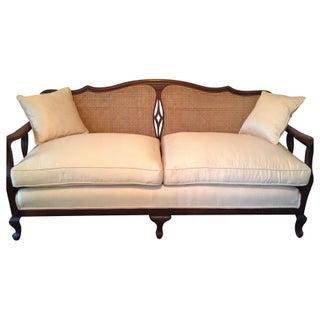 Antique Wicker Back Sofa