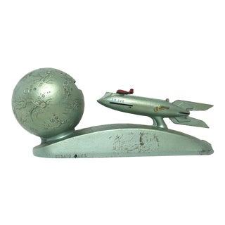 Art Deco Spaceship Steel Coin Bank