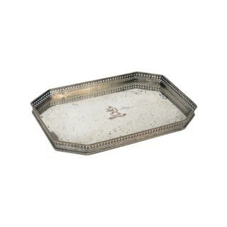 Vintage English Silver Gallery Tray