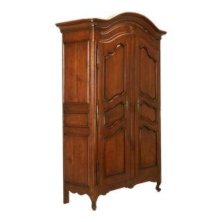 Circa 1800s French Louis XV Style Cherry Wood Armoire
