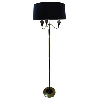 Mid-Century French Brass Floor Lamp