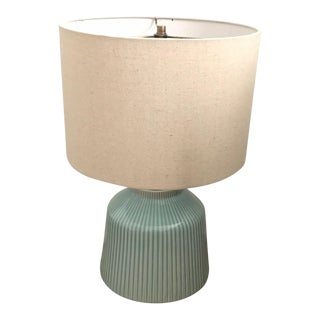 West Elm Roar & Rabbit Ripple Turquoise Ceramic Table Lamp