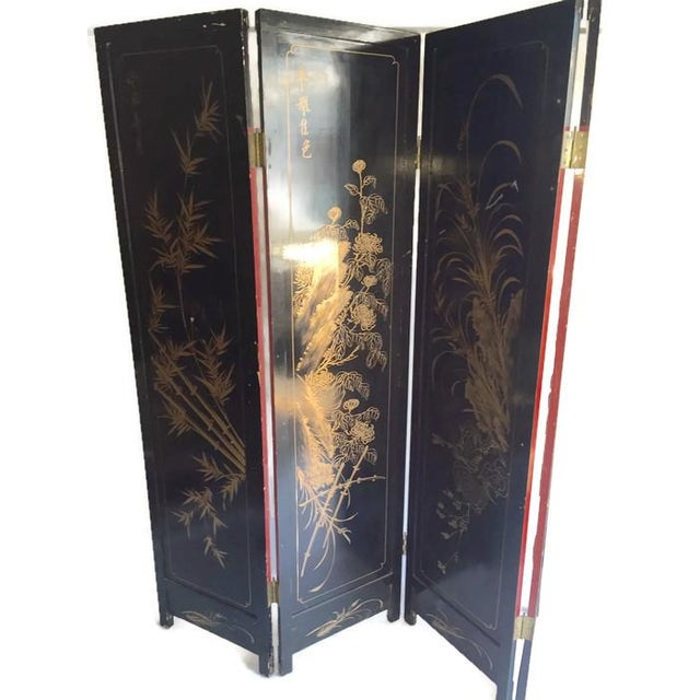 Image of Vintage Chinoiserie Folding Screen