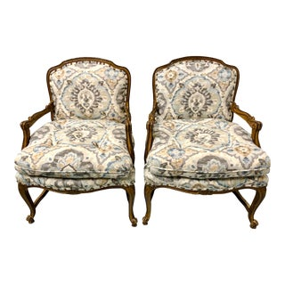 Pair of French Style Arm Chairs by Century