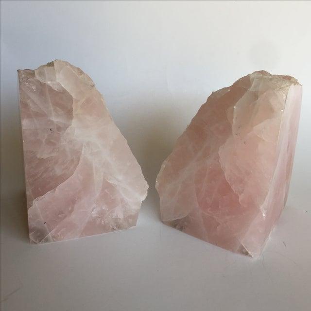 Rose Quartz Bookends - A Pair - Image 4 of 10