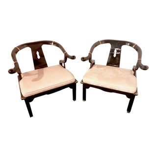 James Mont for Century Furniture Ming Horseshoe Chairs - a Pair