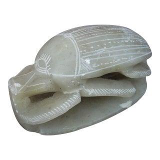 Soapstone Scarab Beetle Figure