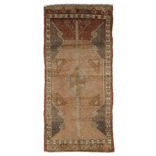 Vintage Turkish Yastik Rug 1'7 x 3'8