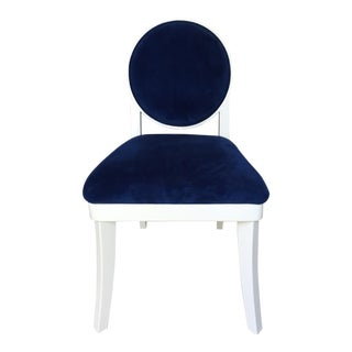 Jonathan Adler Blue Velvet Side Chair