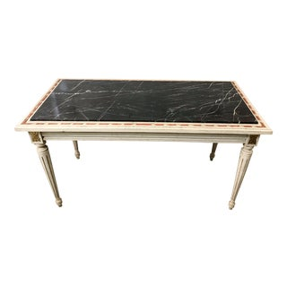 French Marble Top Coffee Table