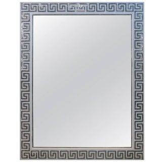 1940's Silver Leaf Greek Key Mirror