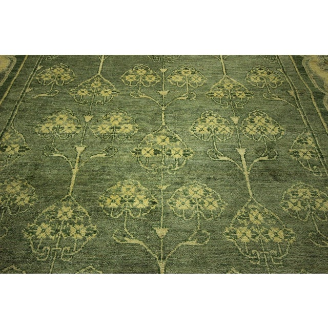 "Green Chobi Gabbeh Oriental Rug - 6'1"" x 9'3"" - Image 8 of 10"