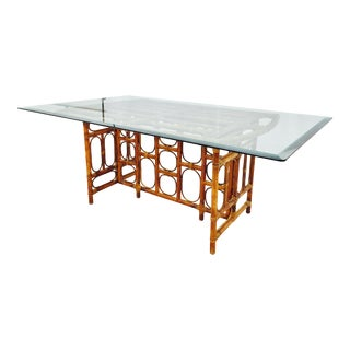 Vintage Rattan & Bamboo Table