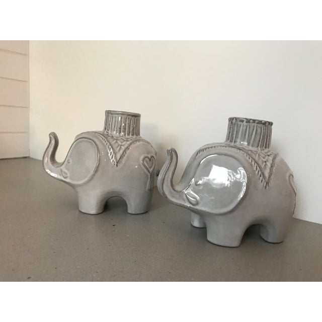 jonathan adler darjeeling elephant candle holders a pair chairish. Black Bedroom Furniture Sets. Home Design Ideas