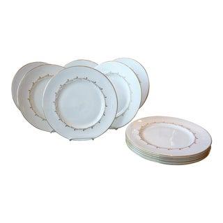Royal Doulton Gold Rim Dinner Plates - Set of 10