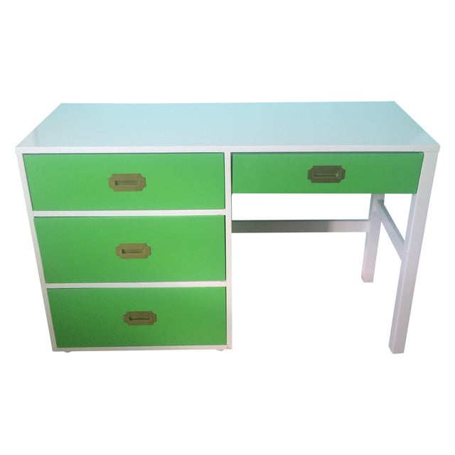 Image of Lacquered Vintage Campaign Desk