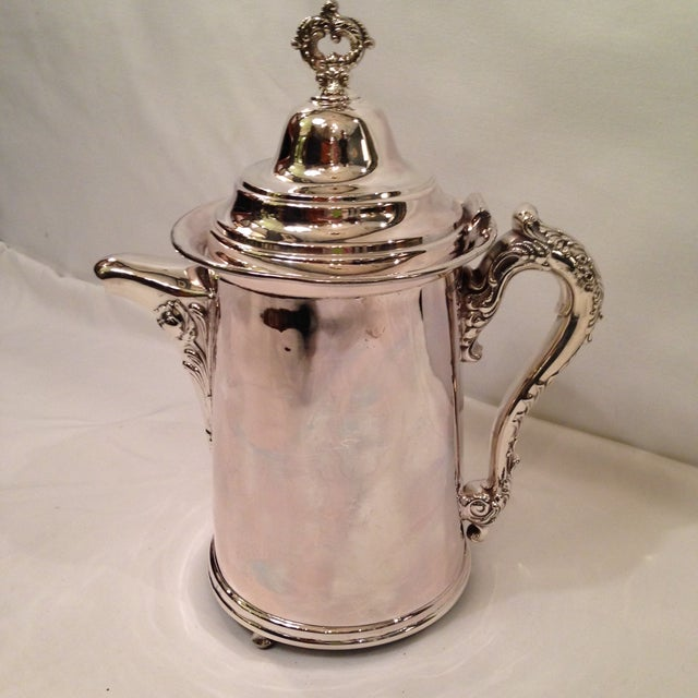 Vintage Silver Plate Footed Coffee Pot - Image 6 of 6
