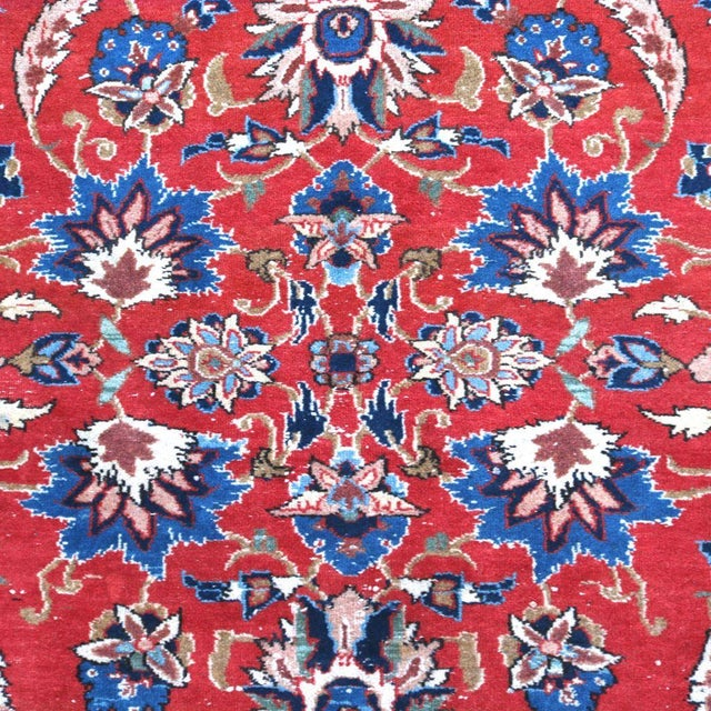 Vintage Persian Antique Handmade Rug 10x13 - Image 8 of 11