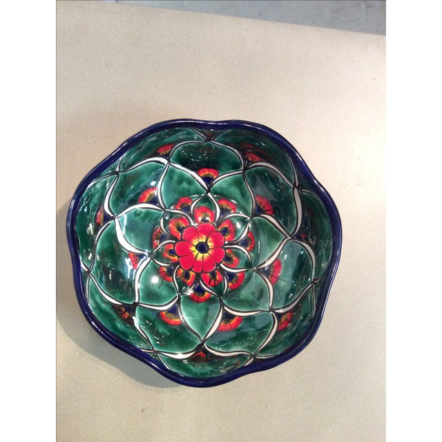 Mexican Hand Painted Bowl - Image 3 of 5