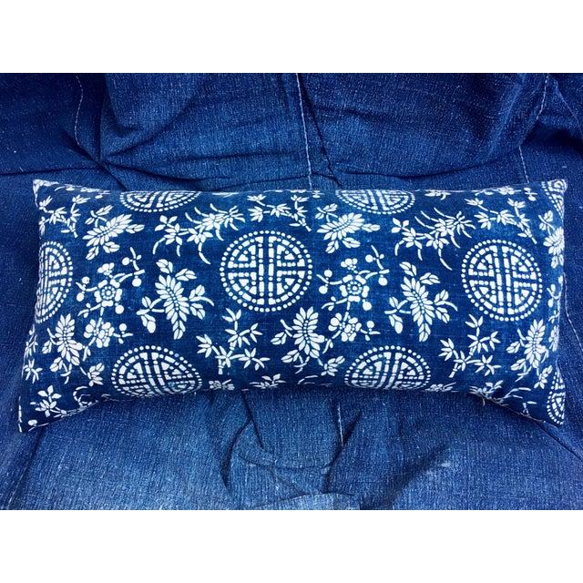 Antique Indigo Batik Pillow - Image 2 of 6