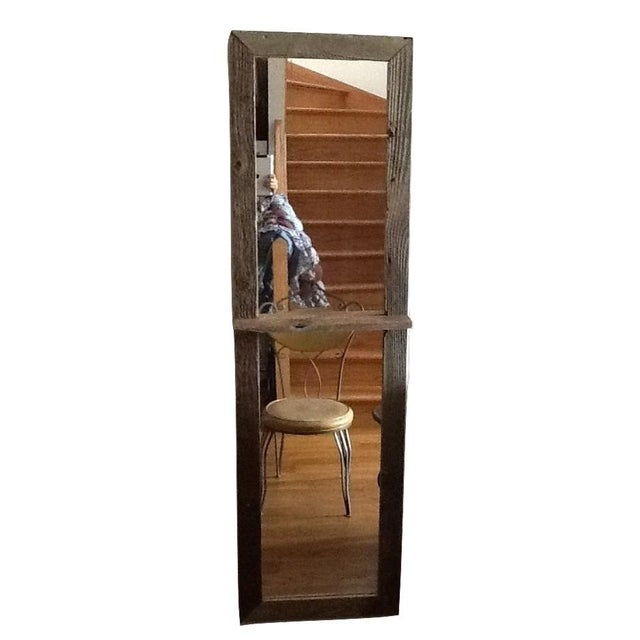 Reclaimed Rustic Wood Floor Mirror Chairish