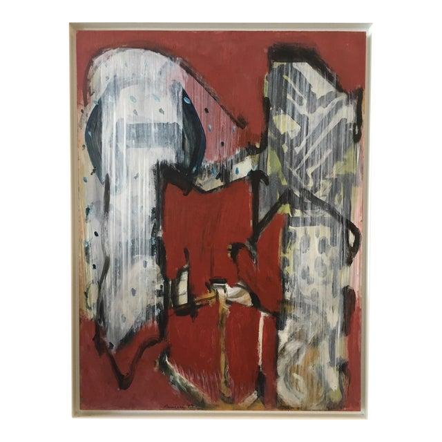 Ranieri Abstract Oil on Masonite Painting - Image 1 of 5